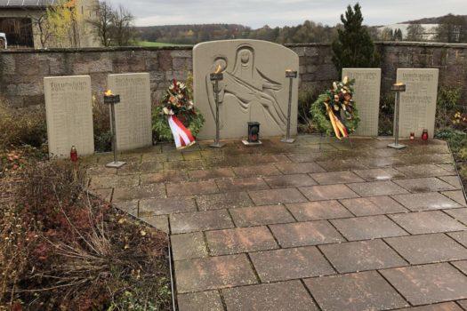 Das Kriegerdenkmal am Friedhof
